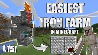 Most easy and smallest IRON FARM in MINECRAFT!
