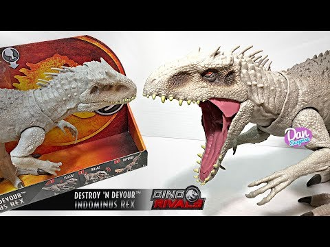 The Destroy & Devour Indominus Rex! New Jurassic World Fallen Kingdom Toy With Lights Sounds!