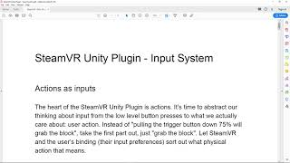 [Unity] SteamVR 2 0 Input using Actions