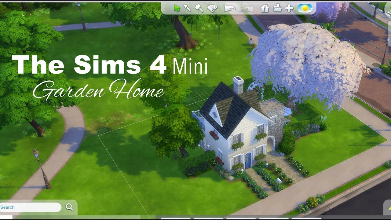 The Sims 4 - Garden Home - Tiny House Series - YouTube