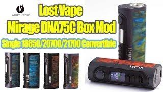 Lost Vape Mirage DNA75C Mod | Flexible DNC chip mod | Single18650/20700/21700 | Elegomallcom