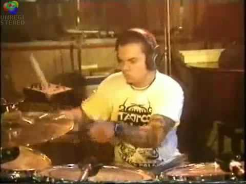 Sepultura in studio recording Ratamahatta 1996