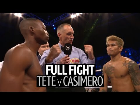 Zolani Tete V Johnriel Casimero Full Fight Replay   Powerful Third-round Stoppage!