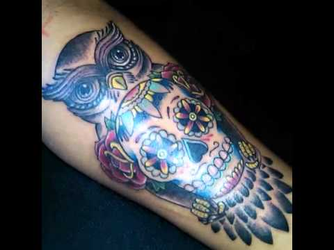 Peposk Tattoo Buho Calavera Youtube