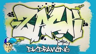 How to draw graffiti names - Zack #7