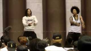 Les Twins Workshop in Tokyo -Warm Up- Part 1 7/29/2015