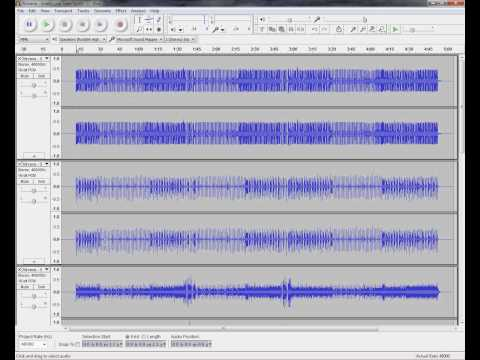 Tutorial: Mixing and Editing Multi-track OGG (.ogg) files with Audacity v1.3.14