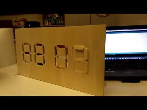 Electro-mechanical 7 segments display - Post Tenebras Lab - Geneva Hackerspace