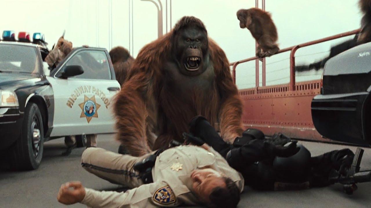 人类测试新药-却让猩猩拥有了高智商-开始反抗人类-速看科幻电影-猩球崛起