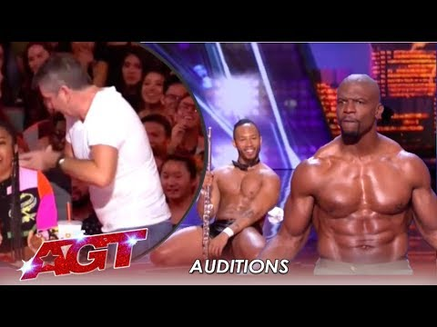 Simon Cowell STORMS Off After Terry Crews Joins Flute Stripping Act | America's Got Talent 2019