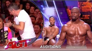 Simon Cowell STORMS Off After Terry Crews Joins Flute Stripping Act | America