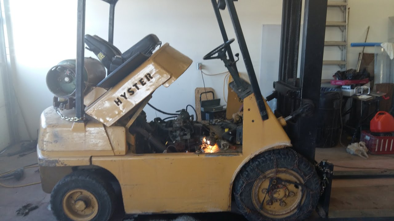Hyster Forklift, older model 1 of 2  YouTube