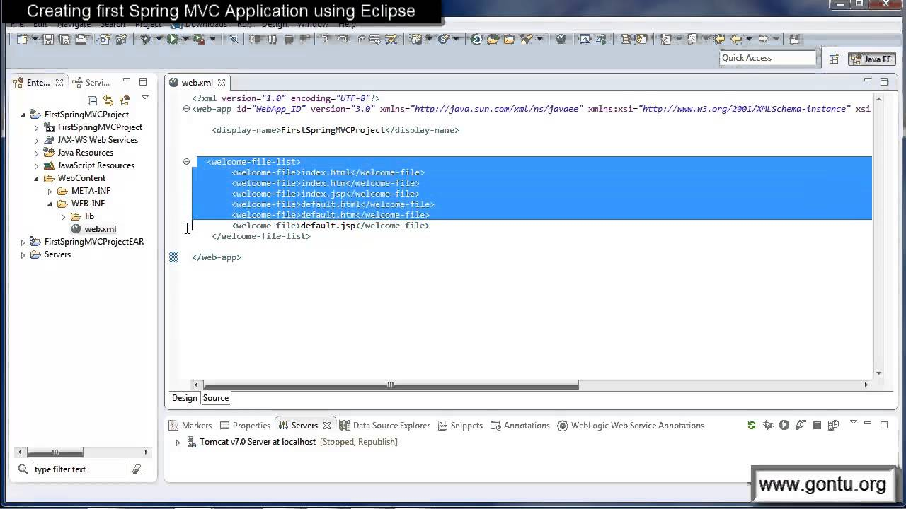 Spring mvc tutorials 05 creating first spring mvc web application spring mvc tutorials 05 creating first spring mvc web application using eclipse ide 01 youtube baditri Image collections