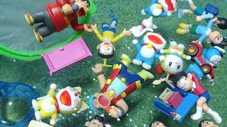 ドラえもん おもちゃ アニメ プールで人形すくいであそぼう!ドラえもんチョコエッグ フィギュア ゆうぴょんyupyon