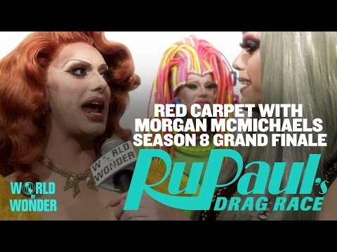 Morgan McMichaels Chats Up the Queens on the Red Carpet at the RuPaul's Drag Race Grand Finale