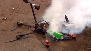 Drone crashes and burns during delivery of asparagus to restaurant