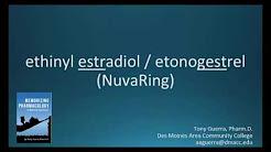 How to pronounce ethinyl estradiol / etonogestrel (NuvaRing) (Memorizing Pharmacology Flashcard)