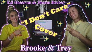 ED SHEERAN & JUSTIN BIEBER - I DON'T CARE (Cover by Brooke & Trey)