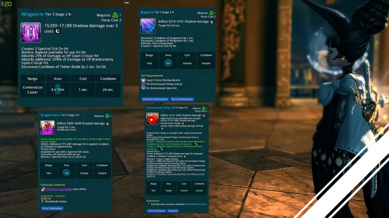 [Blade and Soul] Warlock   How 2 play with Dimensional Volley   Dark Guide  [old patch]