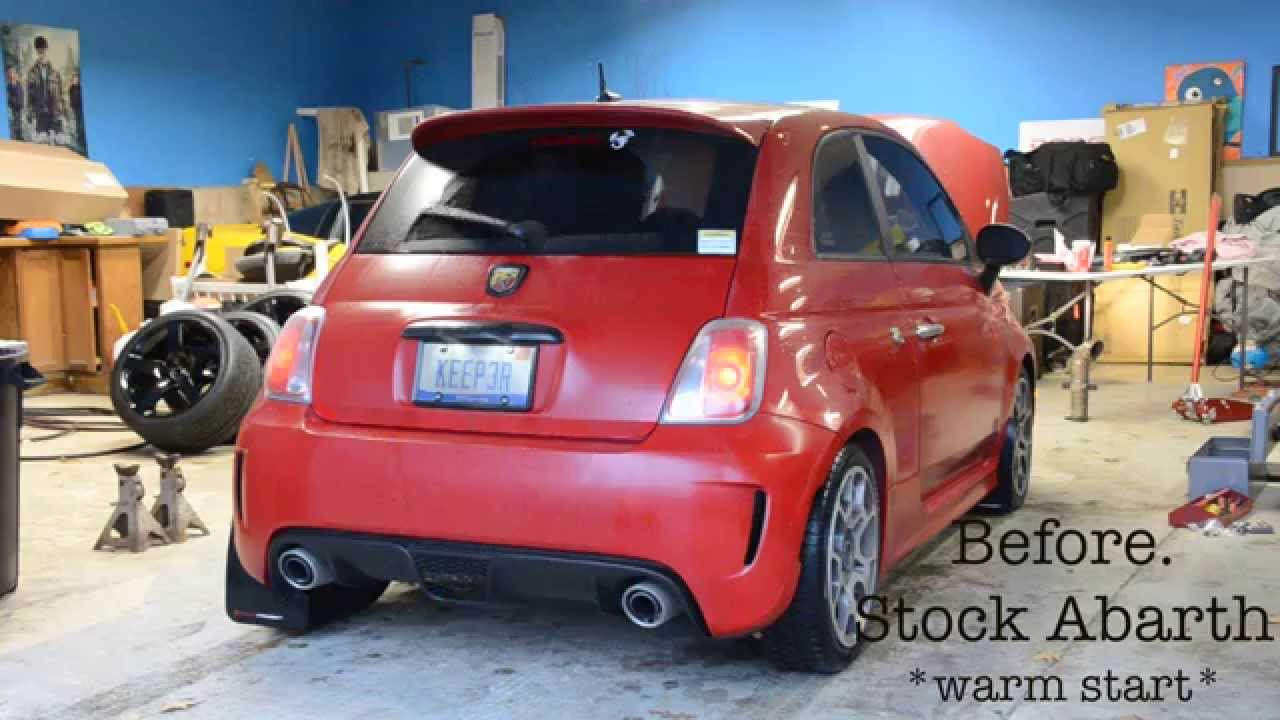 before after fiat 500 abarth w tmc catless downpipe. Black Bedroom Furniture Sets. Home Design Ideas