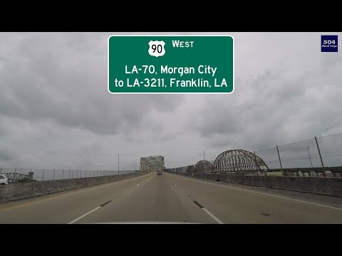 Road Trip #277 - US-90 West - LA-70/Morgan City To LA-3211/Franklin, Louisiana