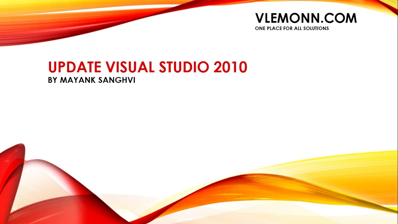 How to update visual studio 2010 youtube.