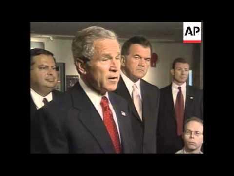 Bush comments on financial markets