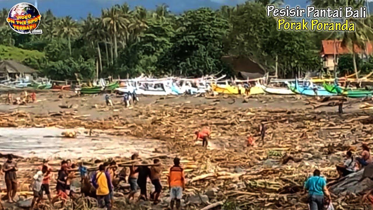 Pesisir Pantai Bali Porak Poranda di Hantam Air Lumpur Besar, Rumah-Rumah & Belasan Ternak Hanyut!!