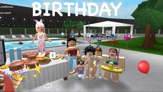 Roblox Bloxburg| Baby Birthday Party + Fans In Video!