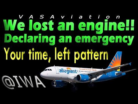 [REAL ATC] Allegiant GO AROUND + ENGINE FAILURE at Phoenix!