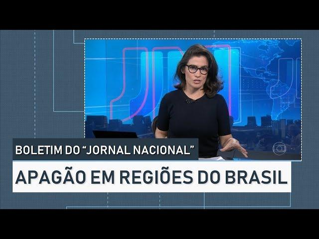 """Boletim """"Jornal Nacional"""" - Apagão no Norte e Nordeste do Brasil (21/03/2018)"""