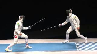 Фехтование шпага. Богдан Никишин. Украина - Бенжамен Штеффен, Швейцария. Рио, Test Event, 24/04/2016
