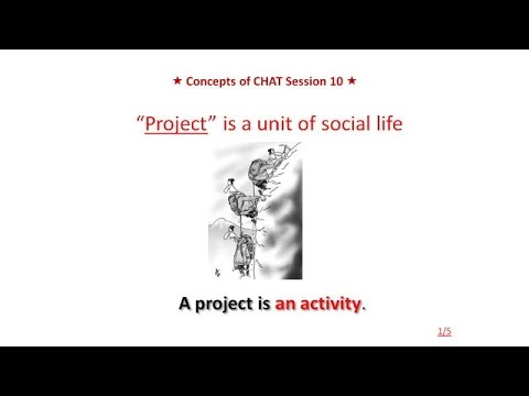 Lecture Ten. Project as unit of social life