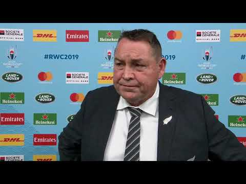 Steve Hansen speaks after New Zealand reach the Rugby World Cup semi-finals
