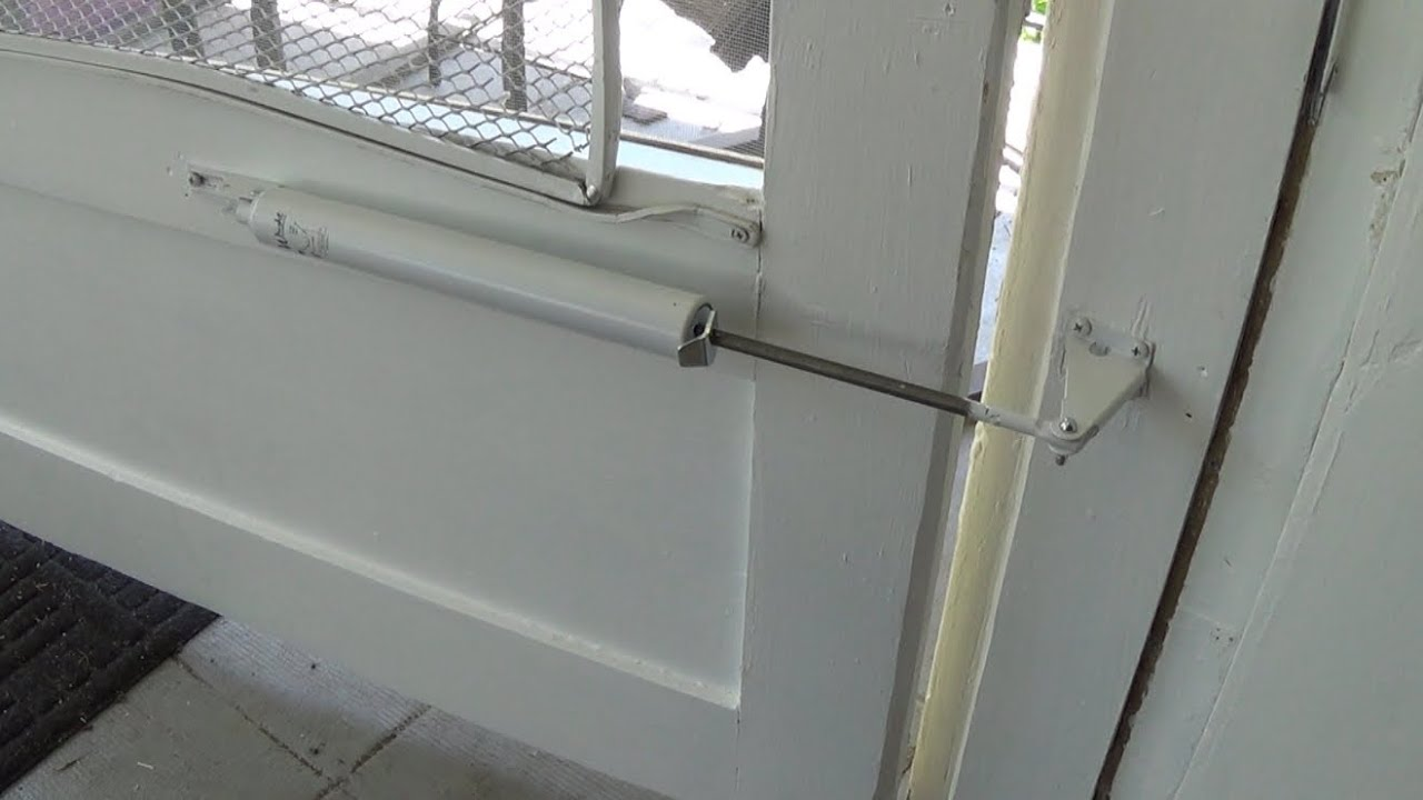 & How to Install a Screen Door Closer - YouTube