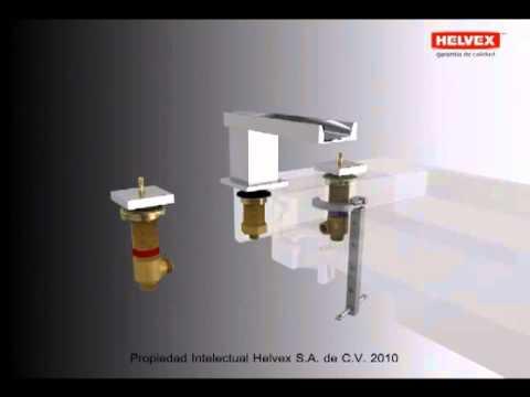 Helvex instalacion mingitorio seco gobi mgs doovi for Mezcladoras helvex