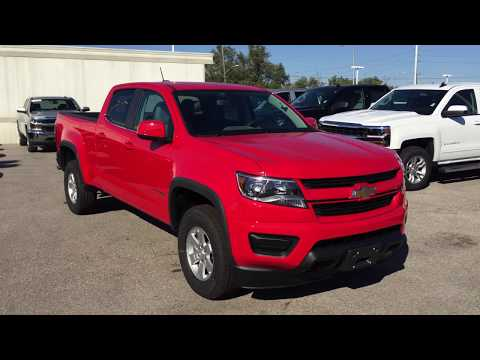 2018 Chevrolet Colorado 4WD Work Truck Crew Cab Red Hot Roy Nichols Motors Courtice ON