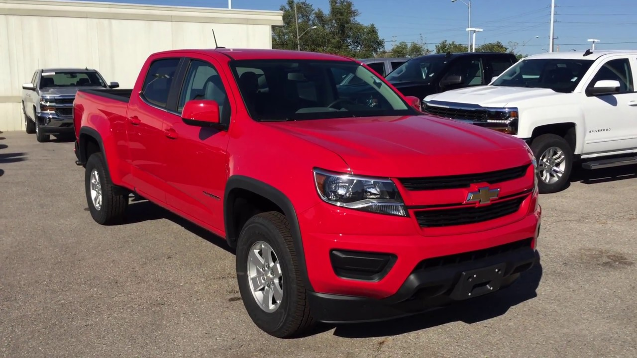 2018 Chevrolet Colorado 4WD Work Truck Crew Cab Red Hot ...