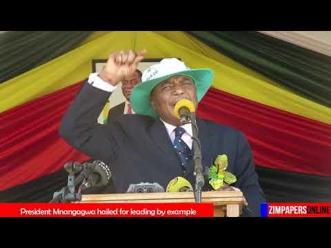President Mnangagwa hailed for leading by example