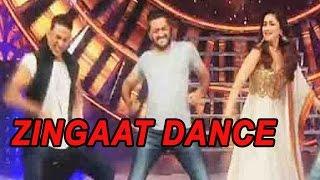 Akshay Kumar, Riteish Deshmukh & Madhuri Dixit Perform On Zingaat Song | Watch Video