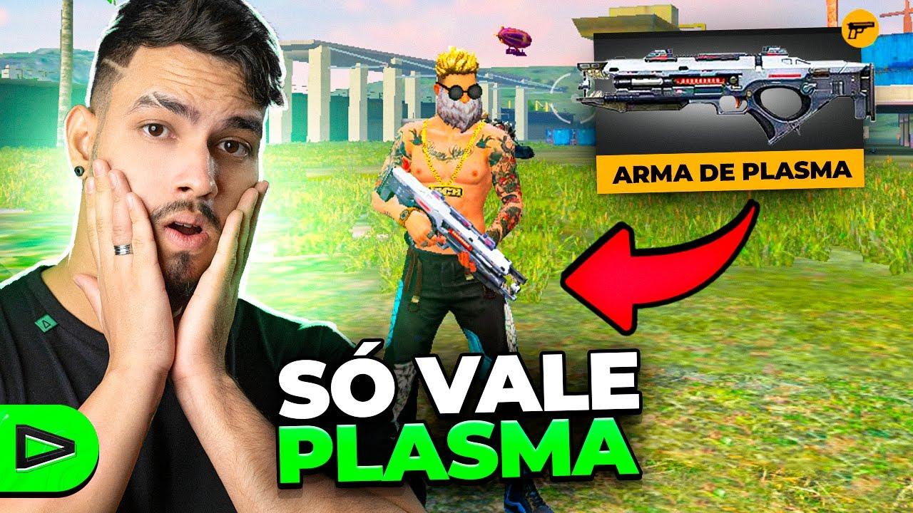 TENTAMOS VENCER USANDO SÓ A ARMA DE PLASMA!! LOUD FREE FIRE