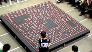 2011 All Japan micromouse contest: BengKiat Half-size mouse search run