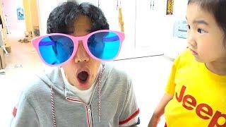보람이와 또치의 마법의 선글라스 장난감 놀이 Boram fun play with color Glasses