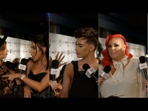 CRINGY AMERICAN INFLUENCER AWARDS RED CARPET INTERVIEWS 2017 FT. FULL JAMES CHARLES AND JACLYN HILL