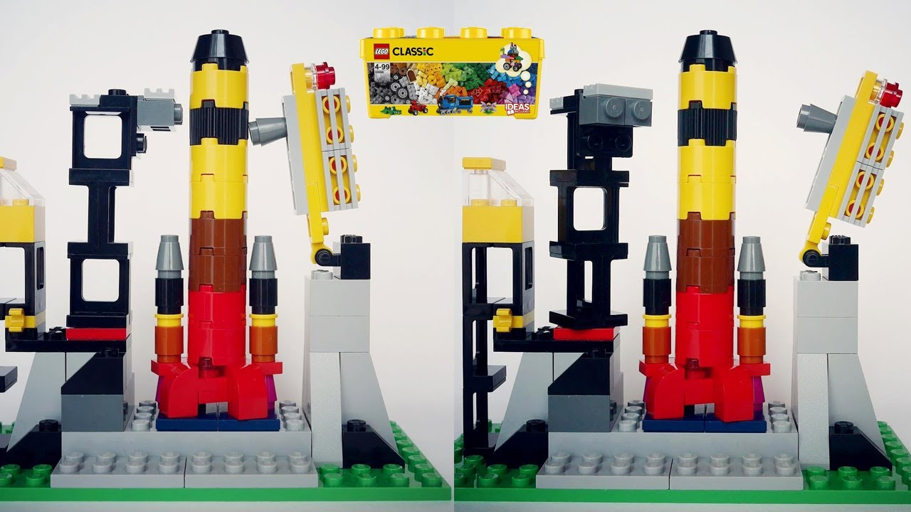 How to make LEGO Launch Vehicle using Classic 10696
