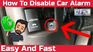 How To Disable Car Alarm Easy