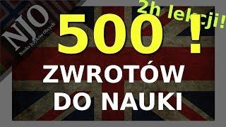Zwroty po angielsku - Język angielski darmowy kurs - 500 zwrotów !