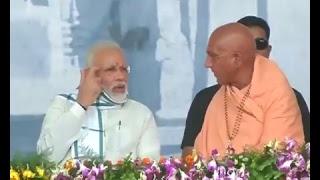 PM Modi at closing ceremony of 'Namami Narmade-Narmada Seva Yatra' in Madhya Pradesh