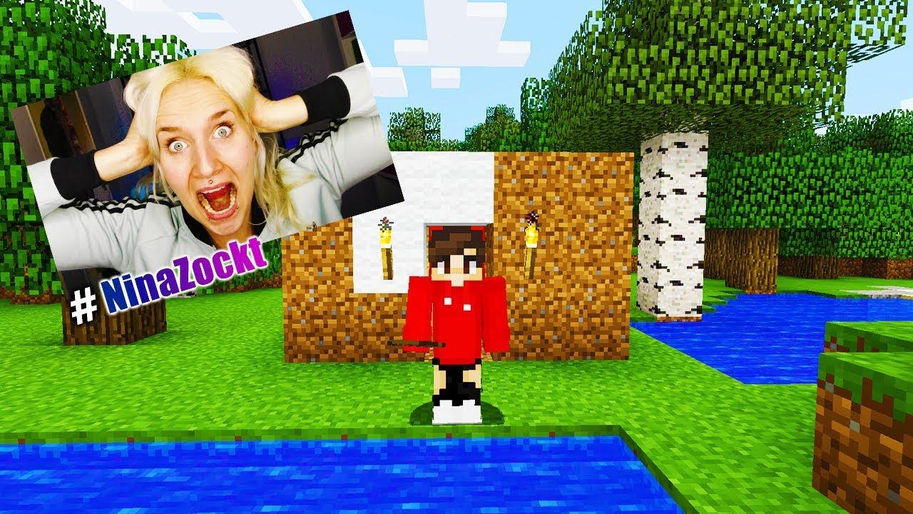 NINA NOOB ALLEINE IM MINECRAFT ÜBERLEBUNGSMODUS Wo Ist Kaan Wenn - Minecraft alleine spielen