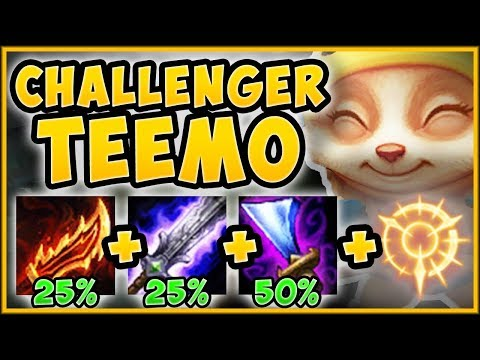 CHALLENGER BURST TEEMO BUILD GIVES +100% ATTACK SPEED?? TEEMO S9 TOP GAMEPLAY! - League of Legends thumbnail